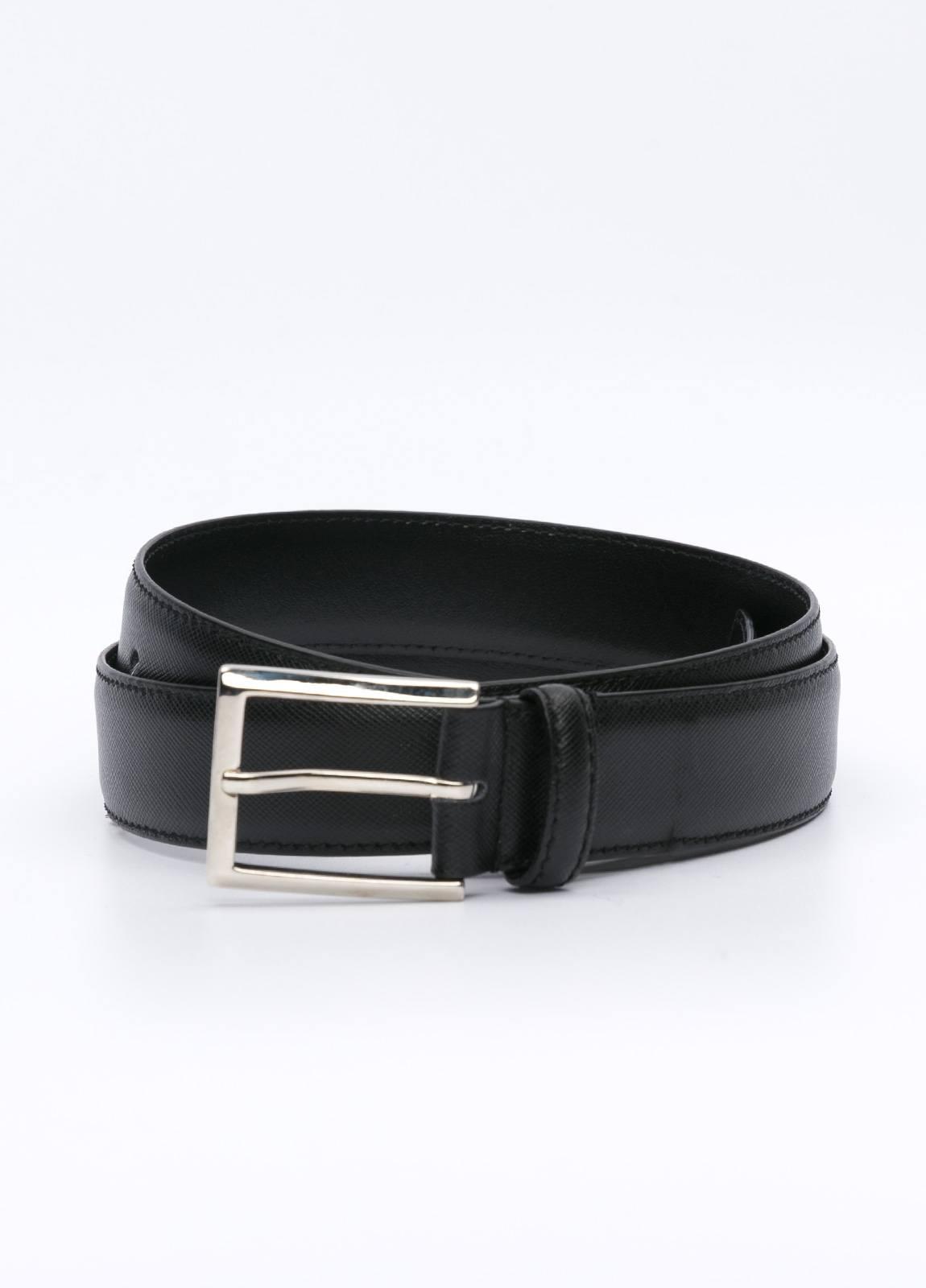 Cinturón Vestir FUREST COLECCIÓN piel grabada negro