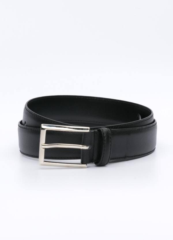 Cinturón Vestir piel grabada, color negro, 32 mm. 100% Piel.