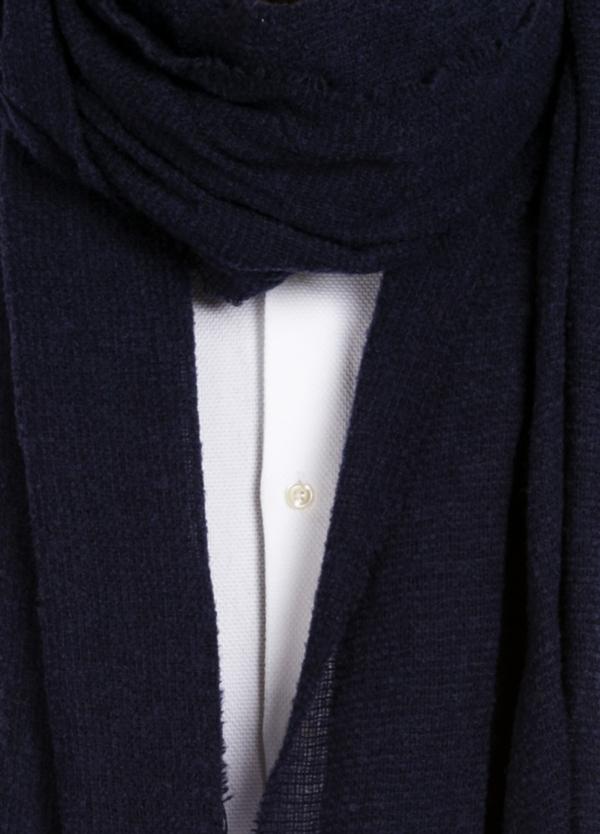 Foulard liso color azul 80 x 200 cm. 85% Alpaca 15% Lana virgen. - Ítem1