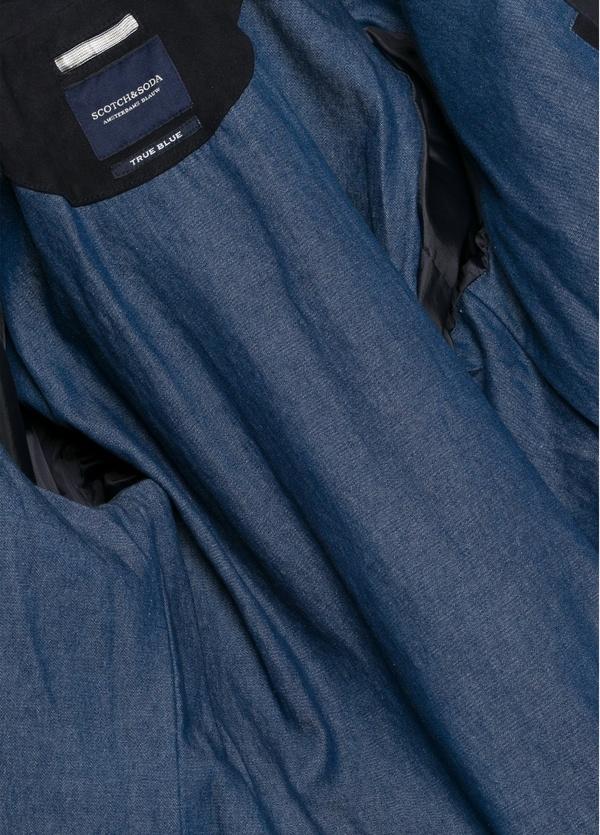 Chaqueta cremallera color azul marino. 100% Ante. - Ítem1