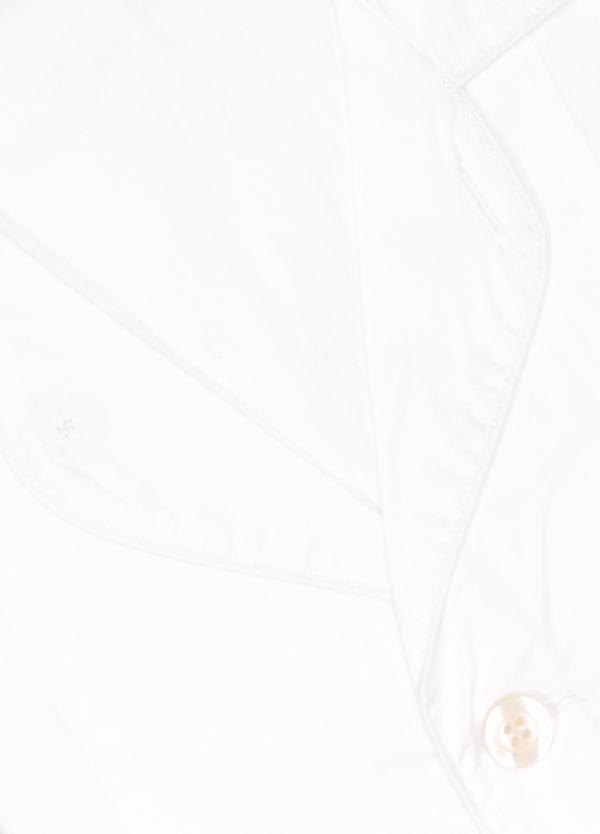 Pijama LARGO dos piezas, pantalón largo con cinta no elástica y funda incluida color blanco. 100% Algodón. - Ítem1