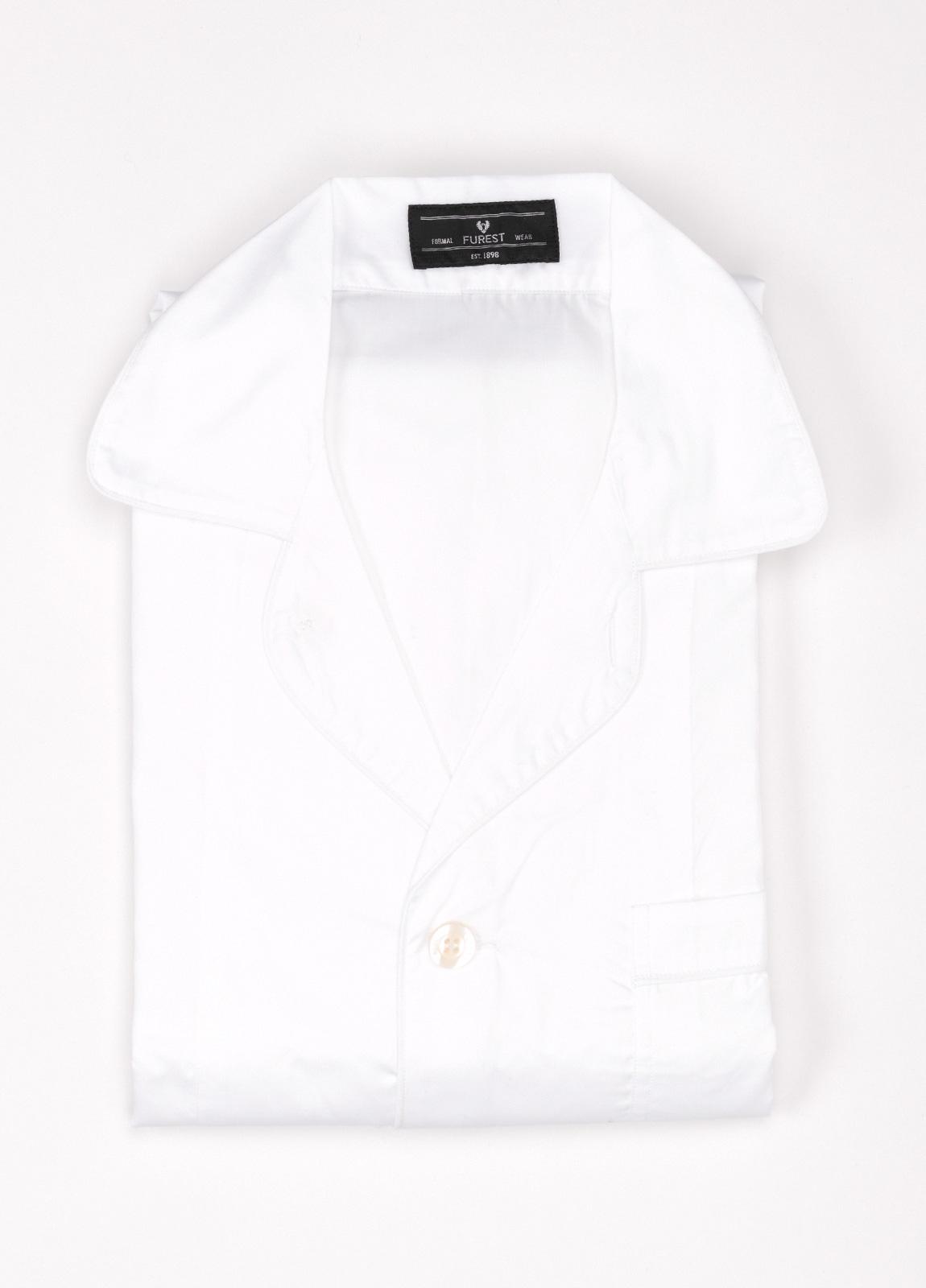 Pijama LARGO dos piezas, pantalón largo con cinta no elástica y funda incluida color blanco. 100% Algodón.