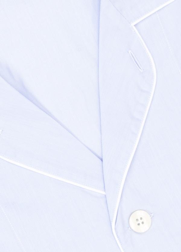 Pijama LARGO dos piezas, pantalón largo con cinta no elástica y funda incluida color celeste. 100% Algodón. - Ítem1