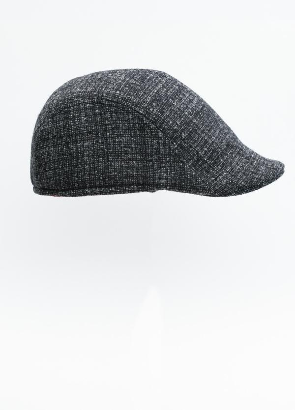Gorra tipo ascot color gris tejido de lana con diseño jaspeado. - Ítem2