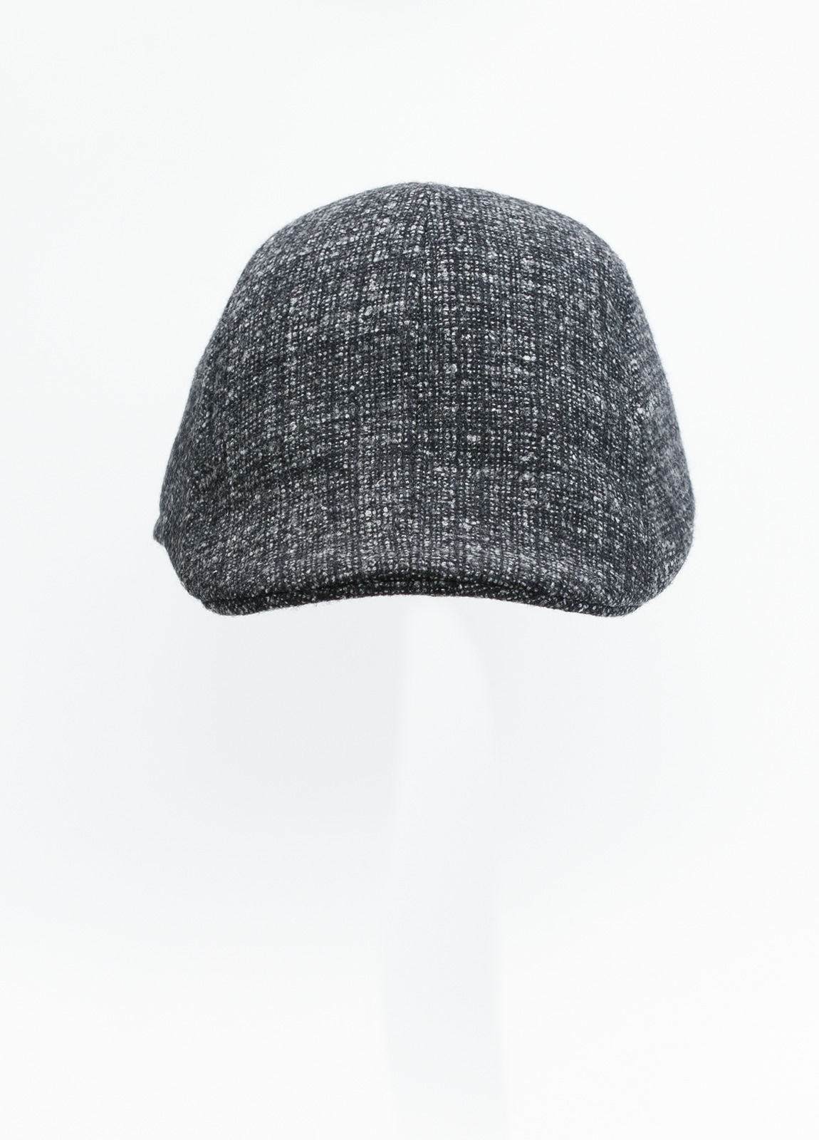 Gorra tipo ascot color gris tejido de lana con diseño jaspeado. - Ítem1