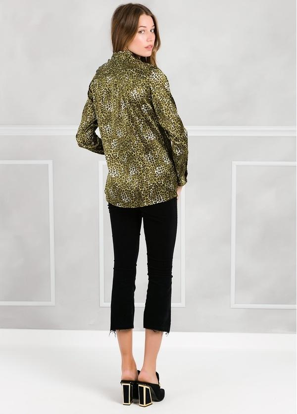 Camisa woman modelo ALICEYS estampado animal print color verde. - Ítem2