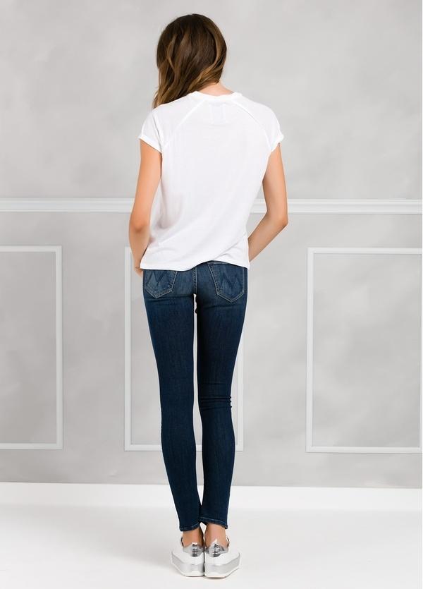 Camiseta manga corta color blanco con estampado de leopardo. - Ítem1