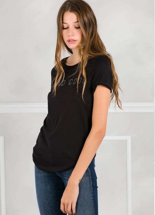 Camiseta manga corta color negro con motivo gráfico. 50% Algodón 50% Modal. - Ítem2