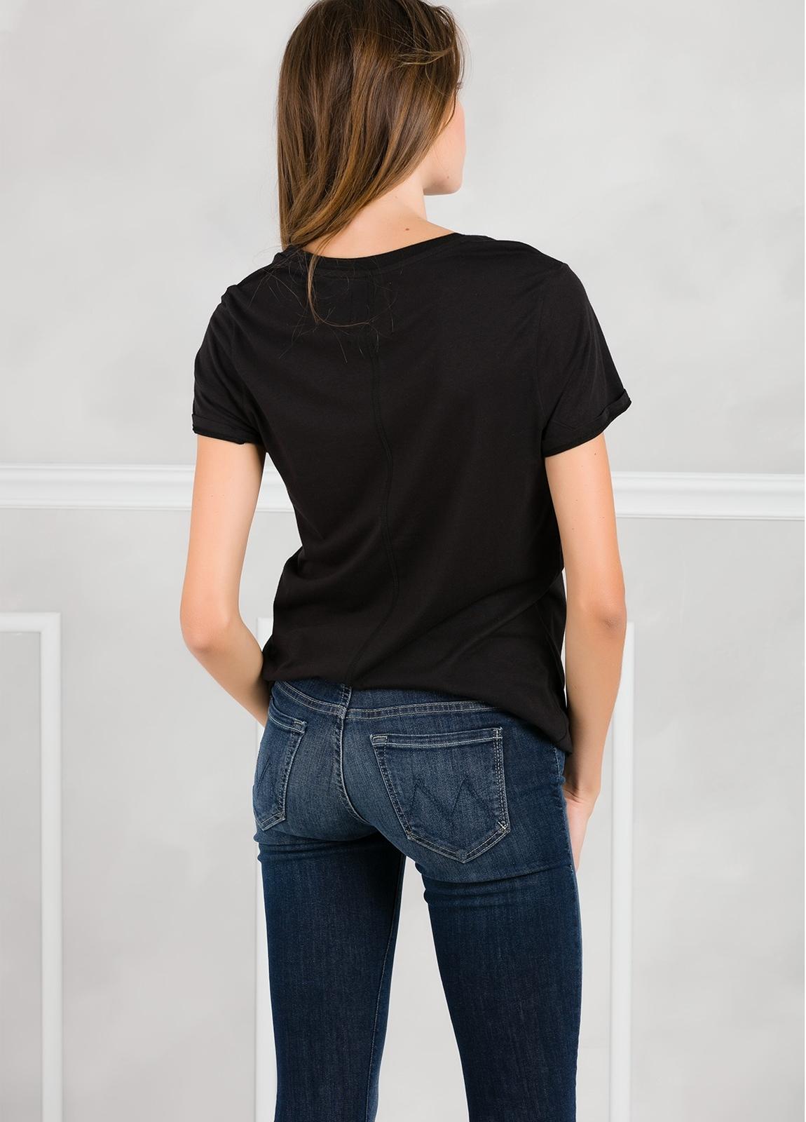 Camiseta manga corta color negro con motivo gráfico. 50% Algodón 50% Modal. - Ítem1