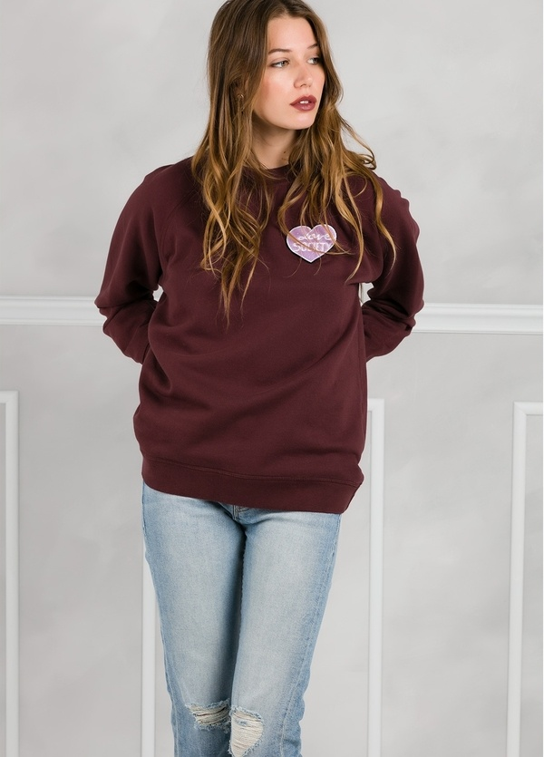 Jersey sport woman color vino.