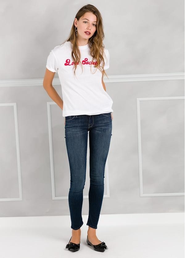 Camiseta woman manga corta color blanco con motivo gráfico. - Ítem2