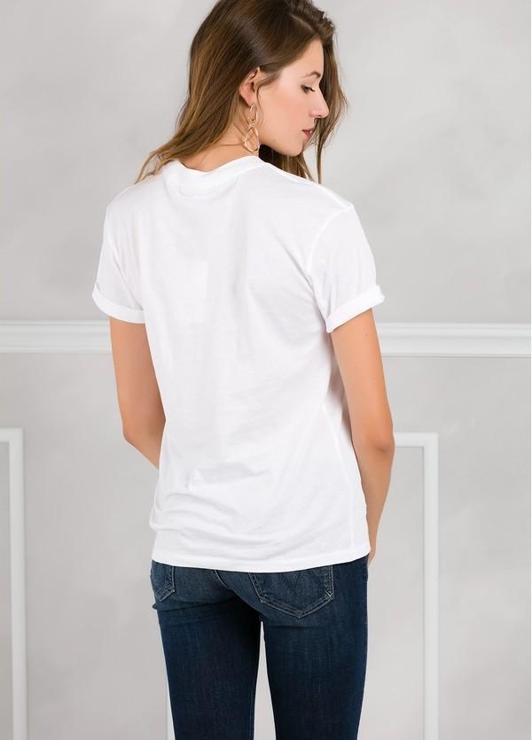 Camiseta woman manga corta color blanco con motivo gráfico. - Ítem1