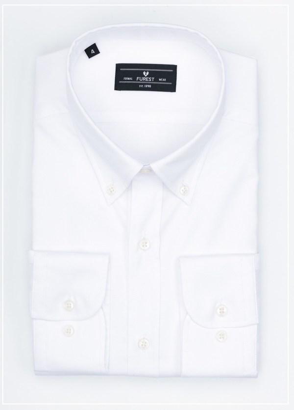 Camisa Formal Wear REGULAR FIT modelo BOTTON DOWN color blanco , 100% Algodón.