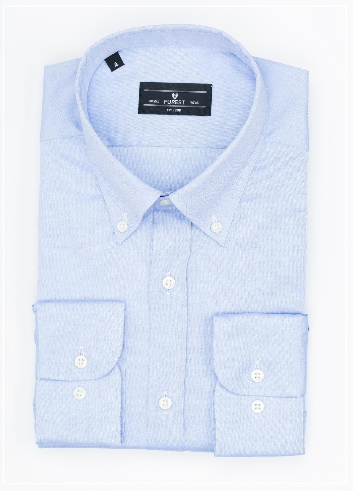 Camisa Formal Wear REGULAR FIT modelo BOTTON DOWN color azul , 100% Algodón.