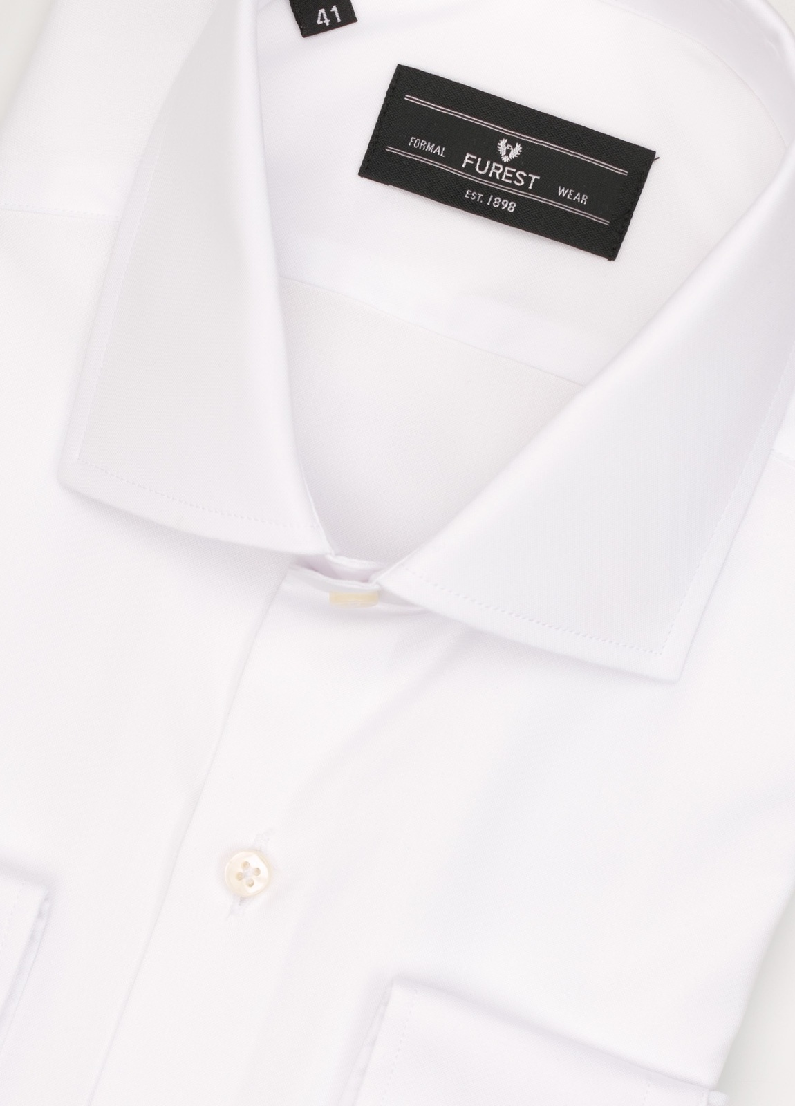 Camisa Formal Wear REGULAR FIT cuello italiano modelo TAILORED NAPOLI tejido color blanco, 100% Algodón. - Ítem2