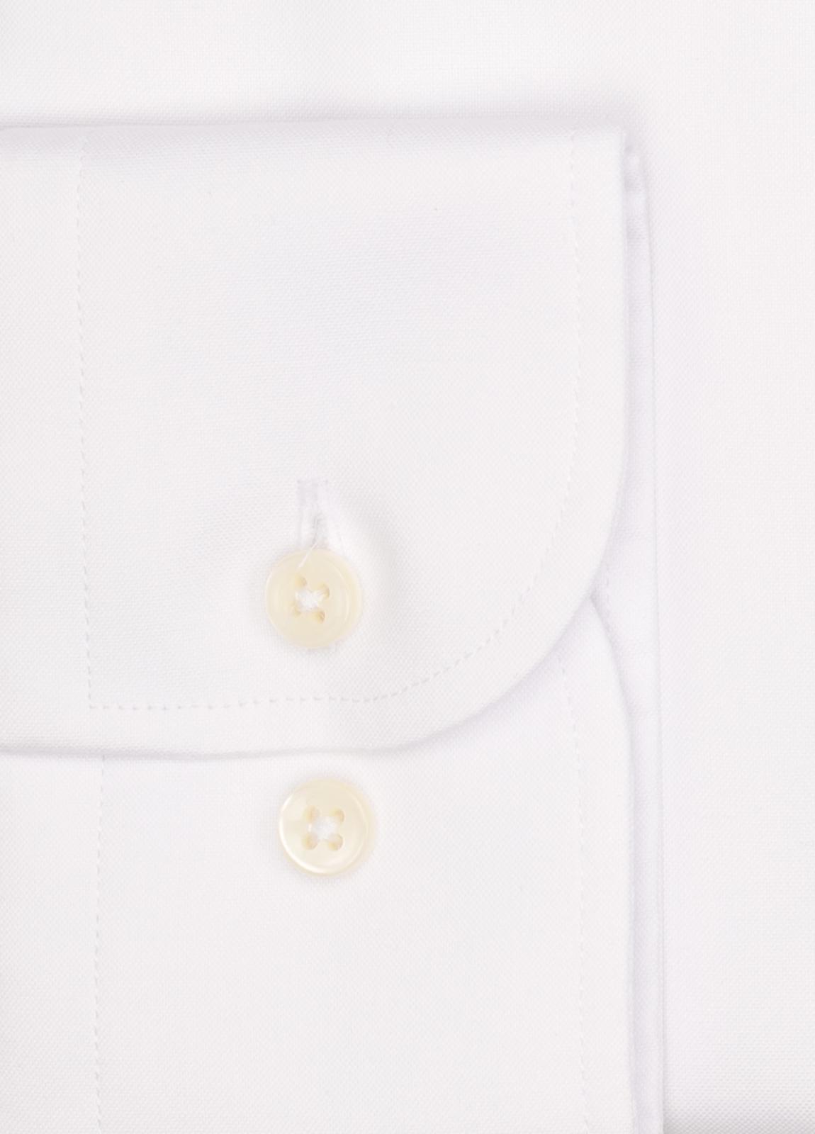 Camisa Formal Wear REGULAR FIT cuello italiano modelo TAILORED NAPOLI tejido color blanco, 100% Algodón. - Ítem1