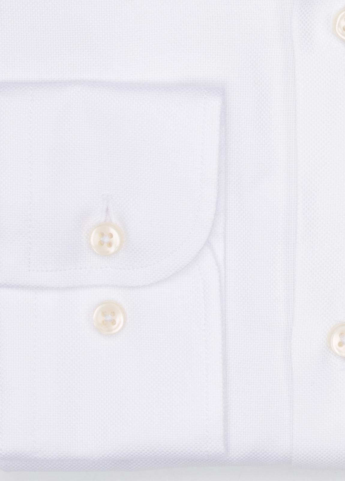 Camisa Formal Wear REGULAR FIT cuello italiano modelo NAPOLI tejido micrograbado color blanco, 100% Algodón. - Ítem2