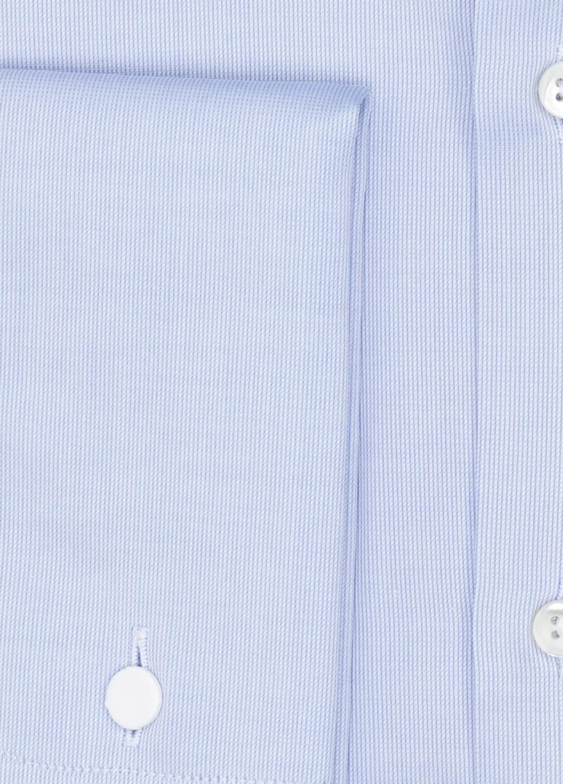 Camisa Formal Wear REGULAR FIT cuello Italiano y puño doble modelo TAILORED NAPOLI Tejido micro grabado color azul, 100% Algodón. - Ítem2
