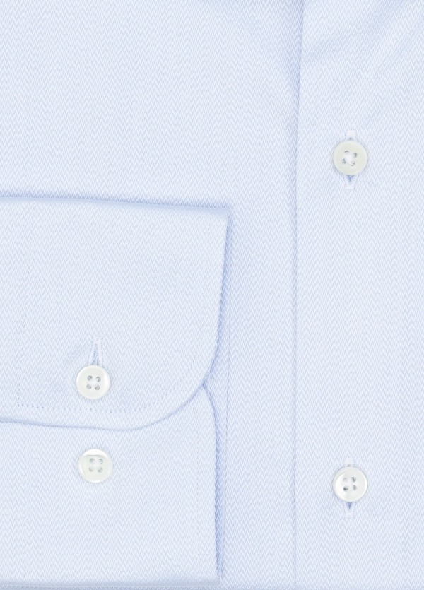 Camisa Formal Wear SLIM FIT cuello italiano modelo ROMA microtextura color celeste, 100% Algodón. - Ítem1