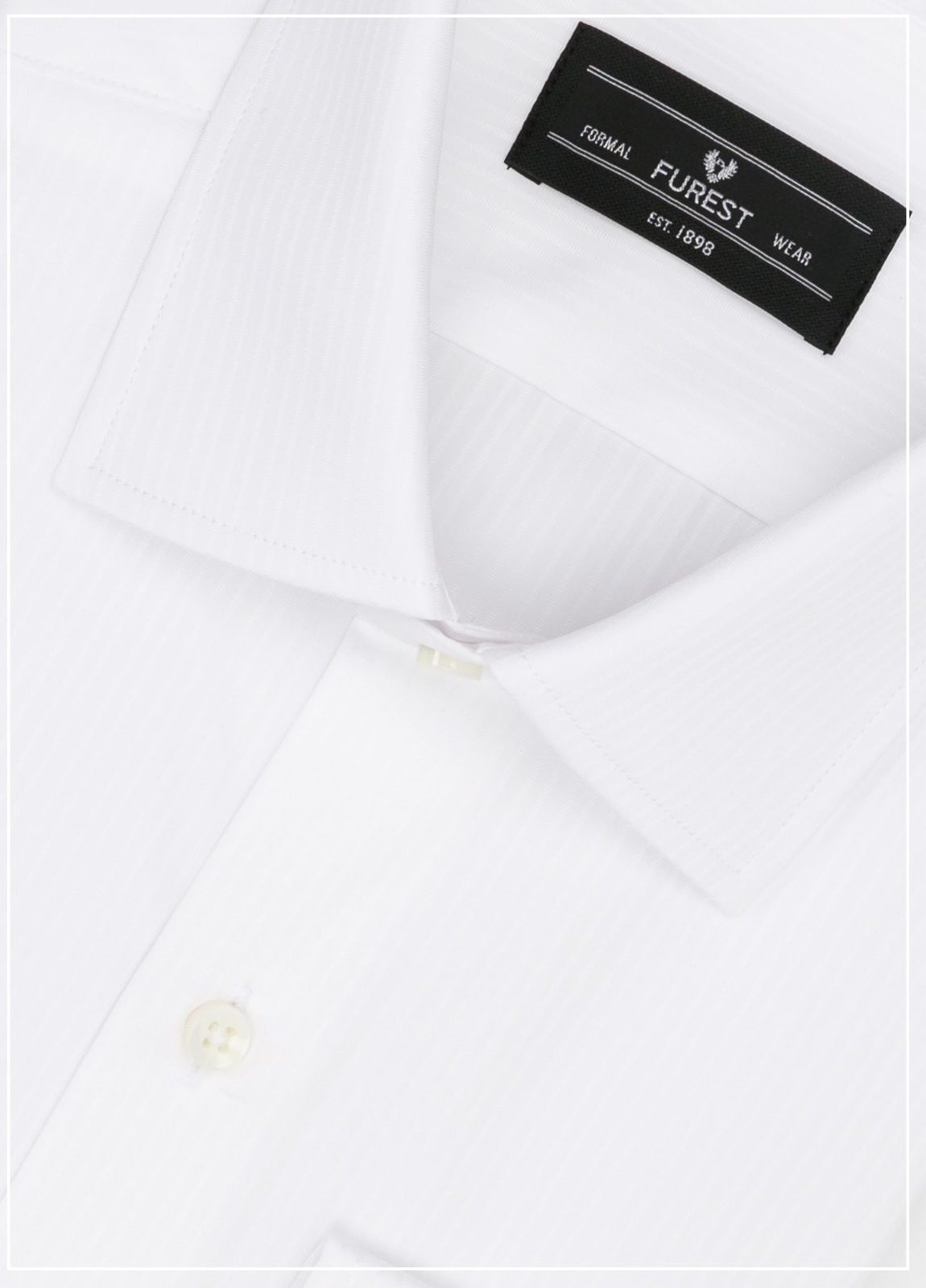 Camisa Formal Wear SLIM FIT cuello italiano modelo ROMA micro raya color blanco, 100% Algodón. - Ítem1