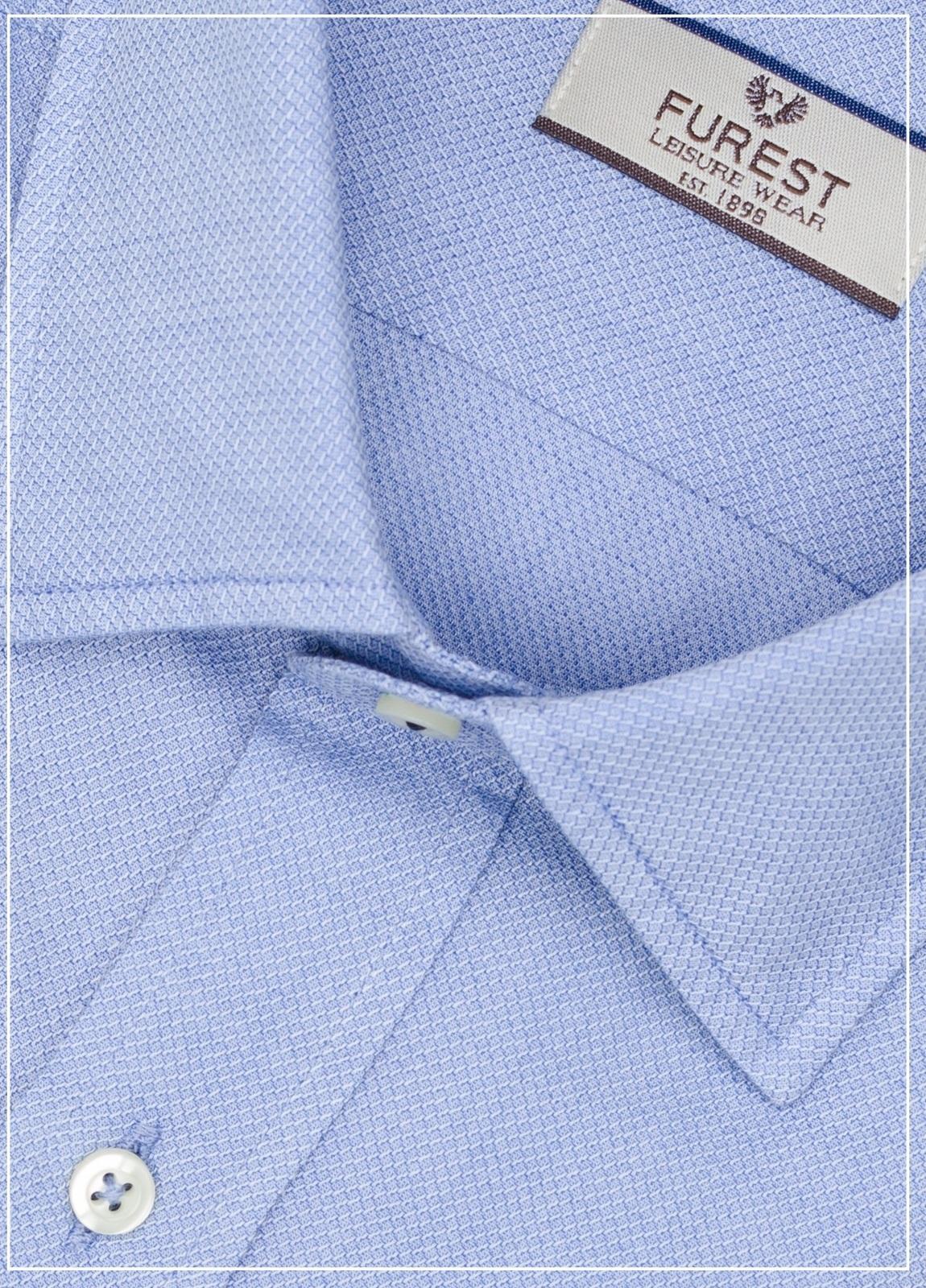 Camisa Leisure Wear REGULAR FIT modelo PORTO lisa color azul 100% Algodón. - Ítem1