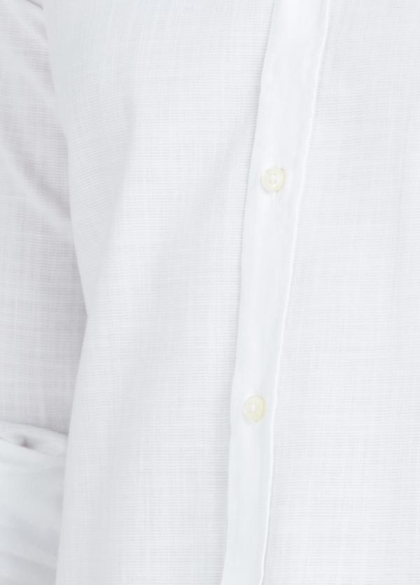 Camisa Casual Wear SLIM FIT Modelo PORTO lisa textura color blanco, 100% Algodón. - Ítem1