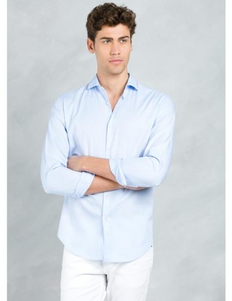 Camisa sport SLIM FIT modelo MATTIA RL, color azul, 100% Algodón.