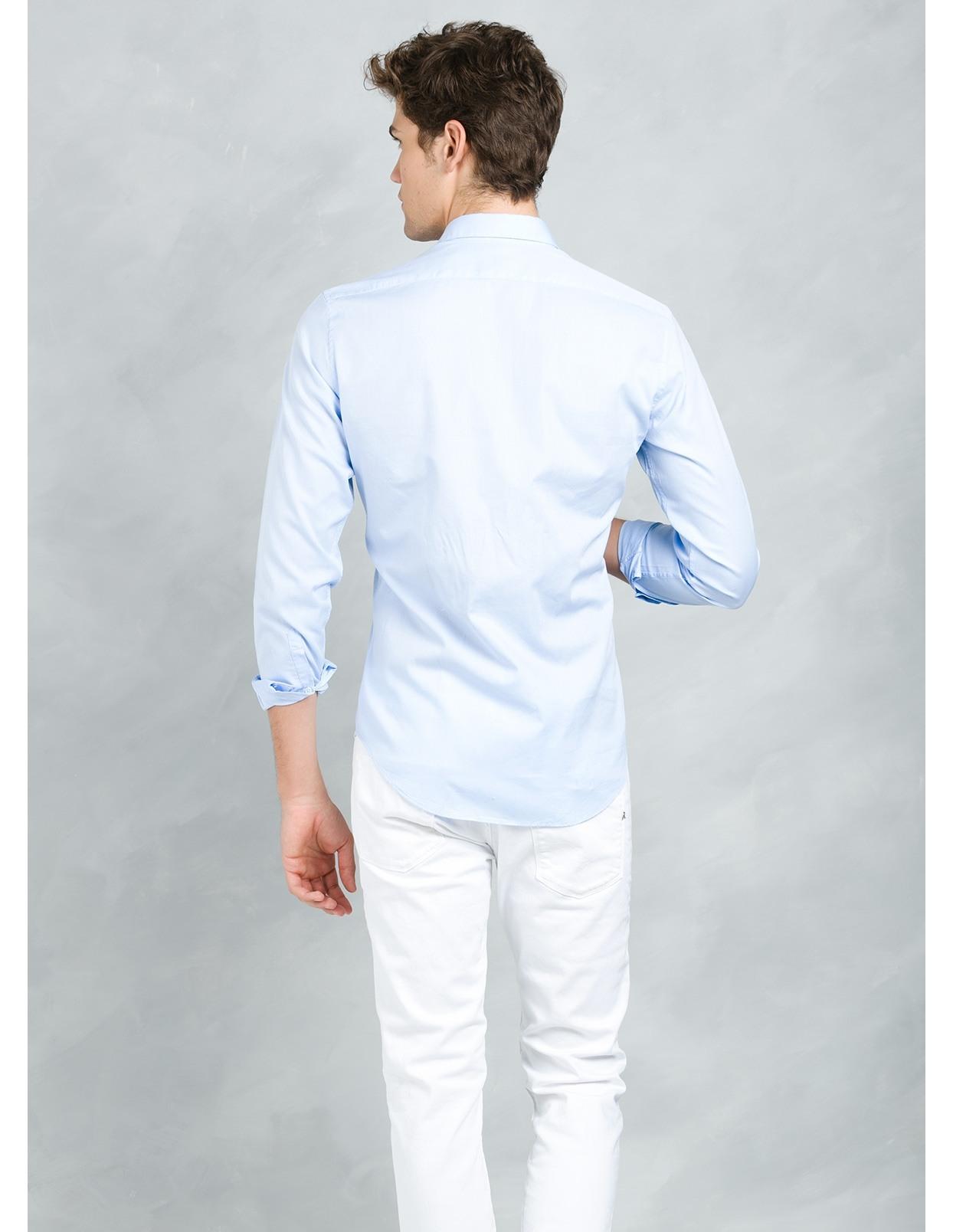 Camisa sport SLIM FIT modelo MATTIA RL, color azul, 100% Algodón. - Ítem2