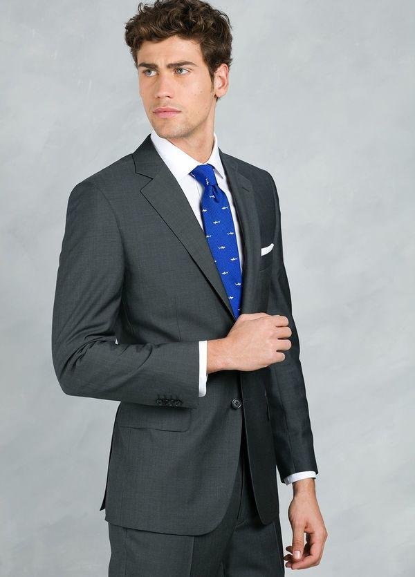 Traje liso REGULAR FIT, tejido GUABELLO, color gris, 100% Lana fría. - Ítem5