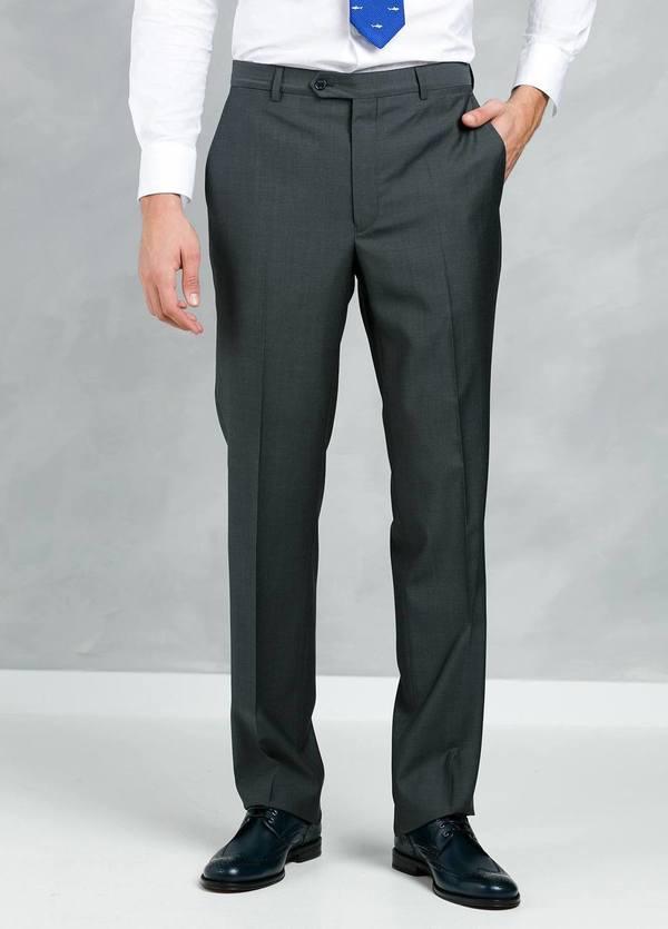 Traje liso REGULAR FIT, tejido GUABELLO, color gris, 100% Lana fría. - Ítem4