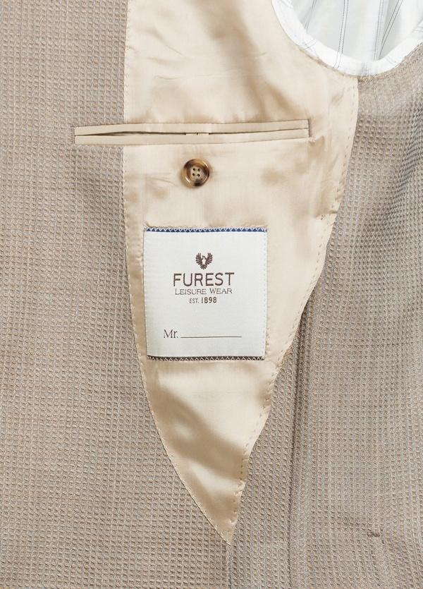 Americana SOFT JACKET Slim Fit textura color tostado, 100% Lana fria. - Ítem2