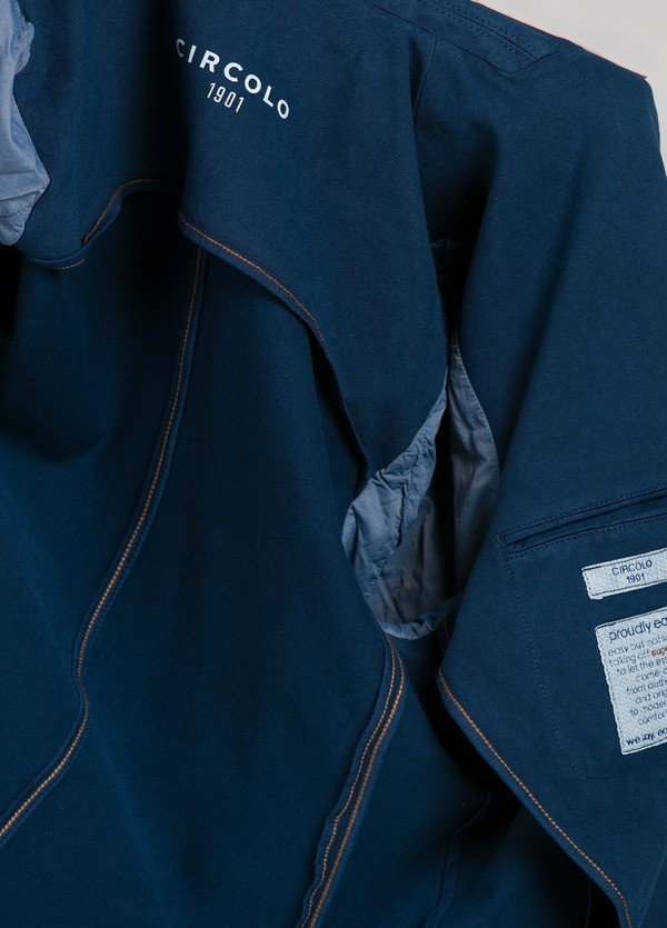 Americana soft 2 botones SLIM FIT color azul oscuro efecto denim, 95% Algodón 5% Elastán. - Ítem3
