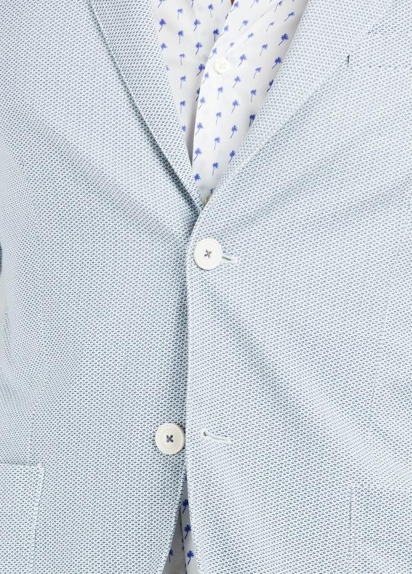 Americana soft 2 botones SLIM FIT color celeste, 96% Algodón 4% Elastán. - Ítem2