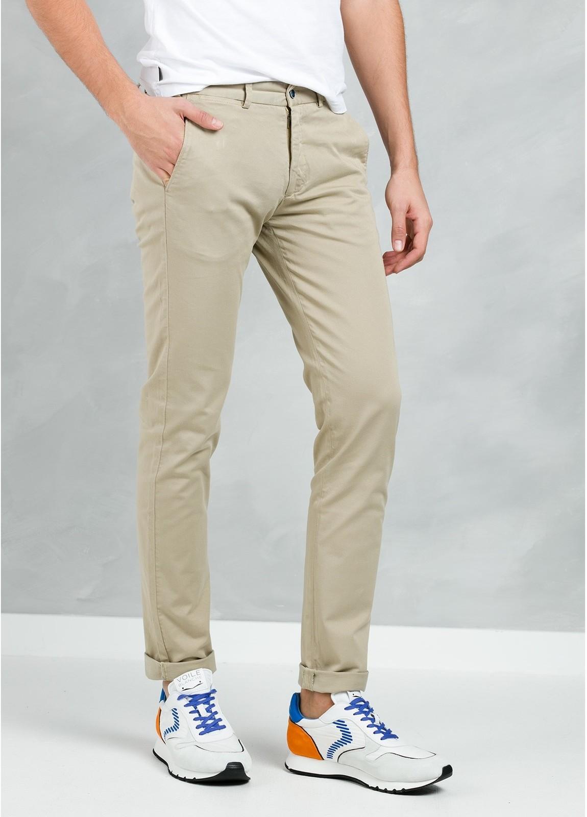 Pantalón Casual Wear, SLIM FIT micro textura color beige, 97% Algodón 3% Elastómero. - Ítem2