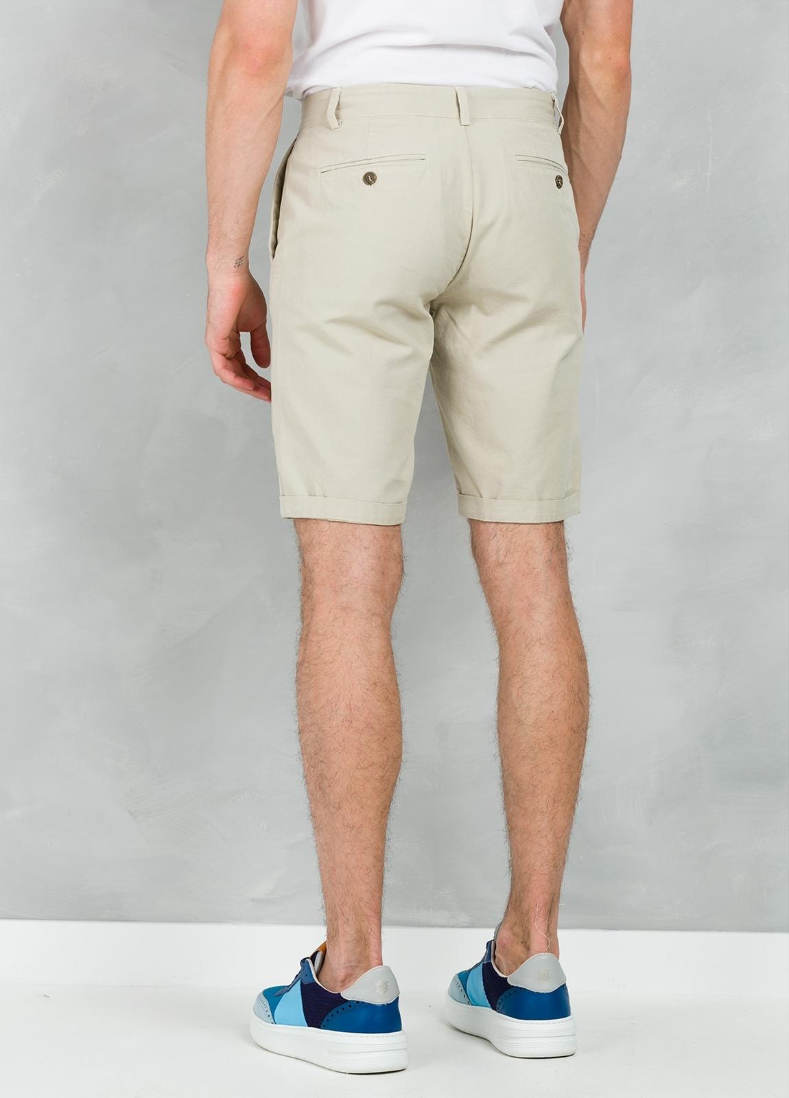Short Furest Casual Wear color beige, 100% Algodón. - Ítem2