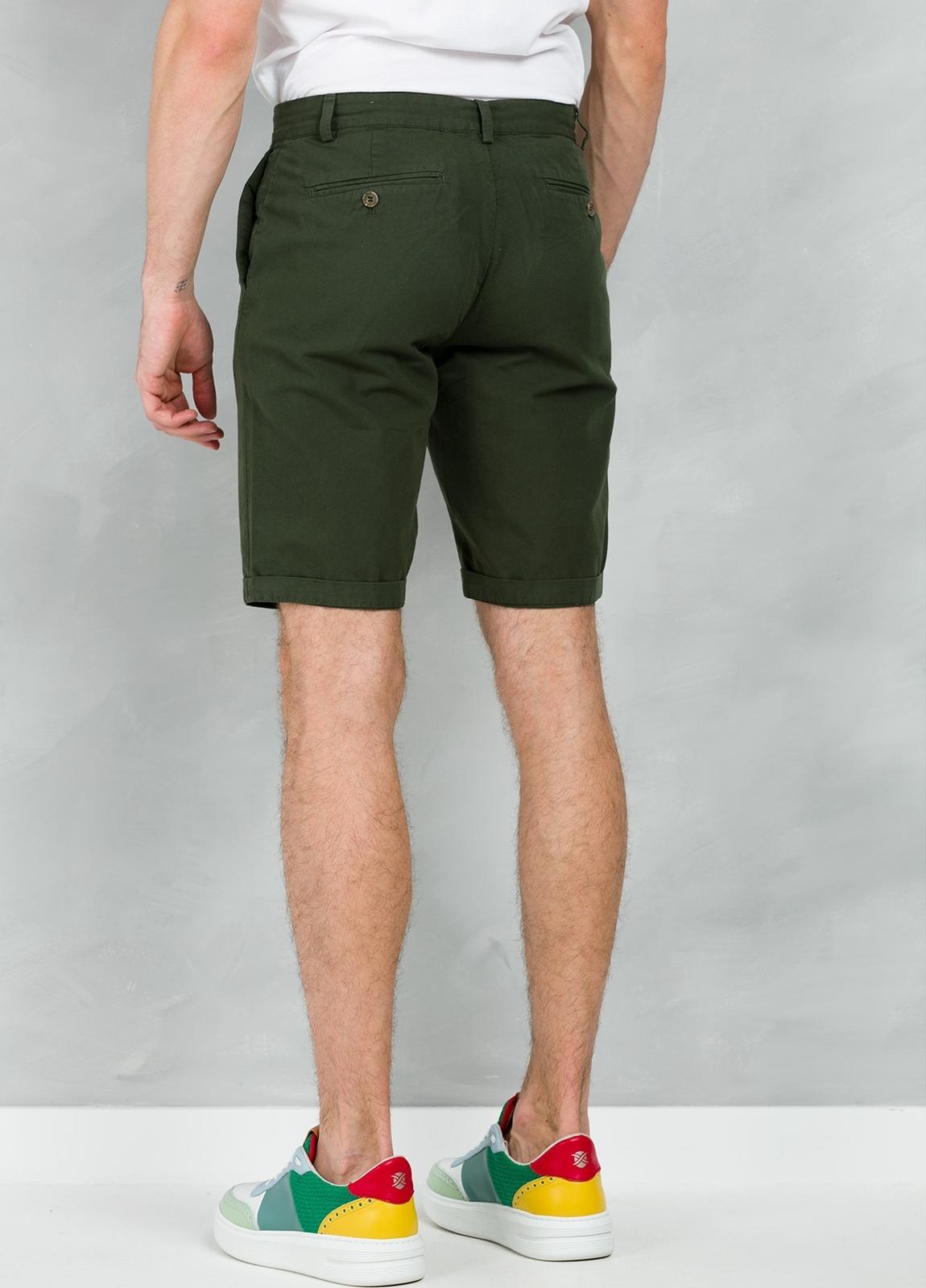 Short Furest Casual Wear color kaki, 100% Algodón. - Ítem1