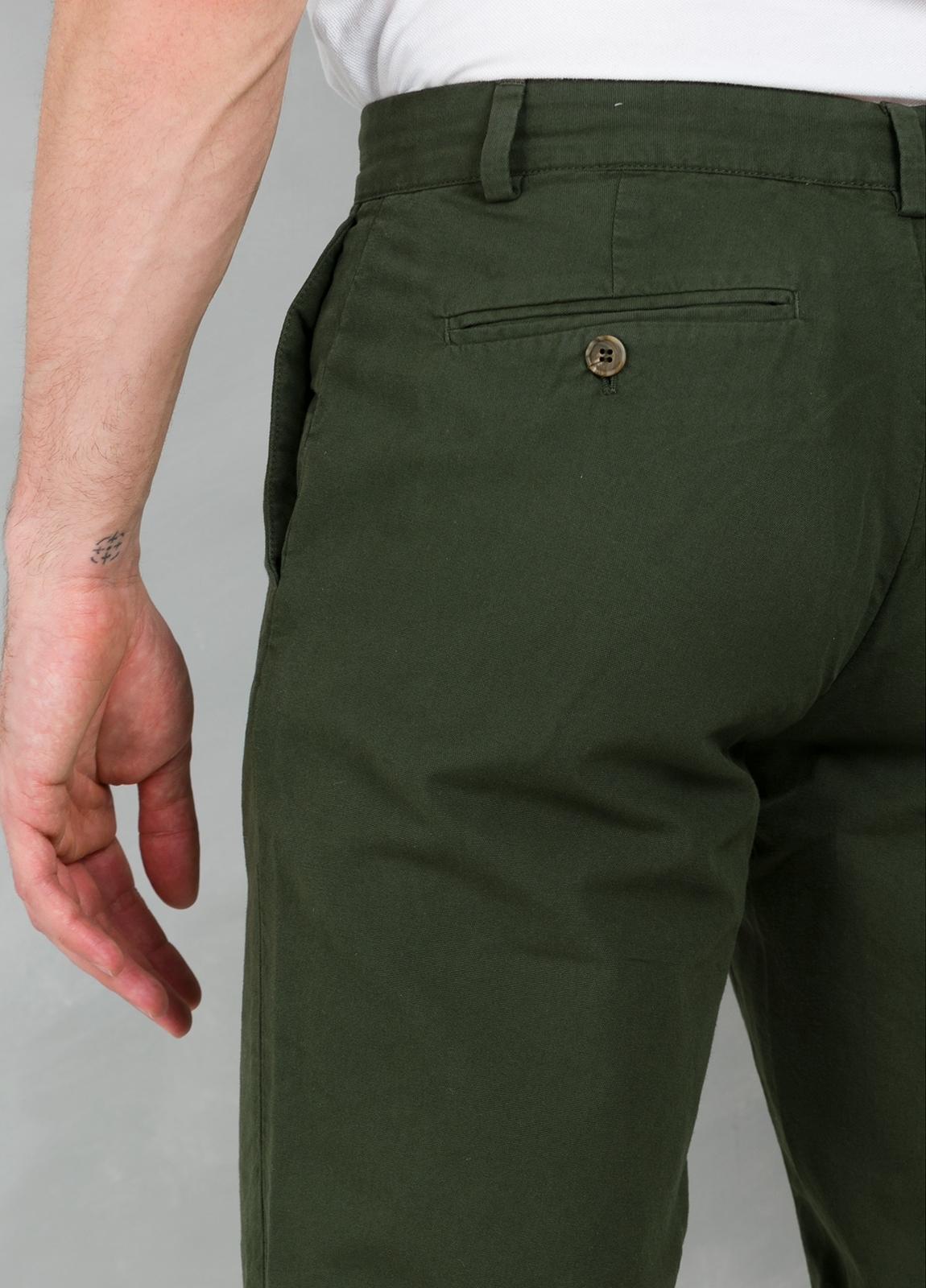 Short Furest Casual Wear color kaki, 100% Algodón. - Ítem2