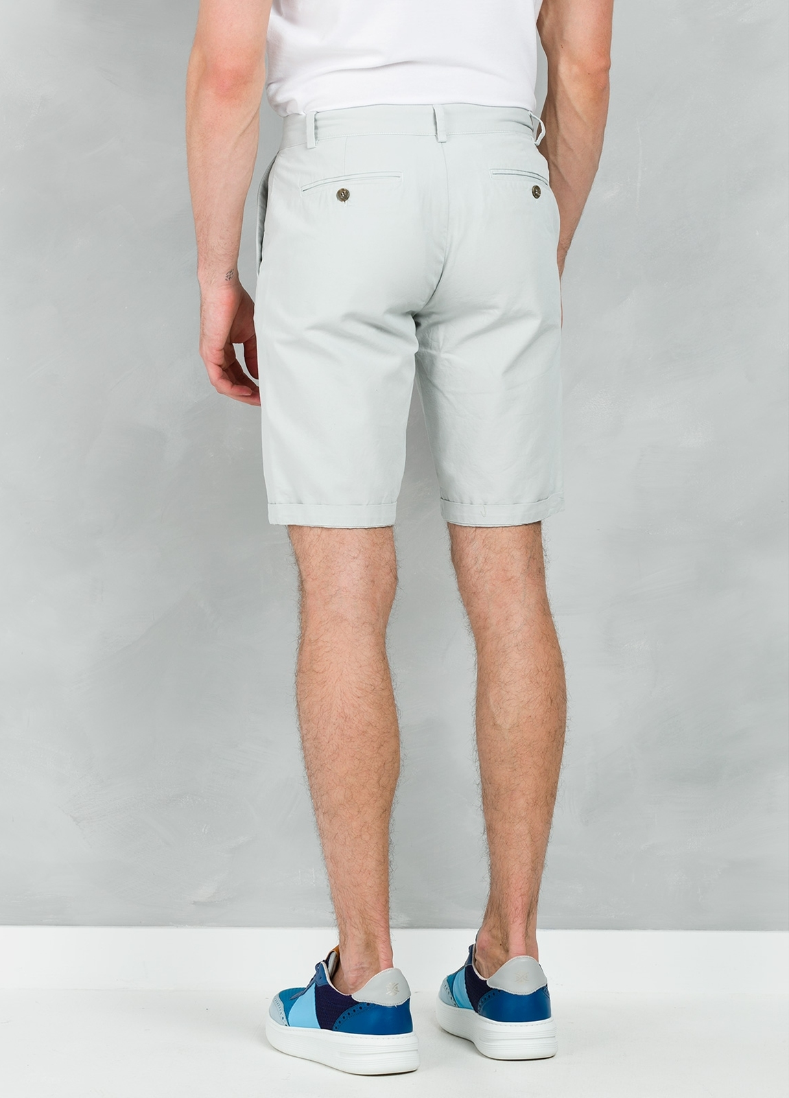 Short Furest Casual Wear color gris perla , 100% Algodón. - Ítem2