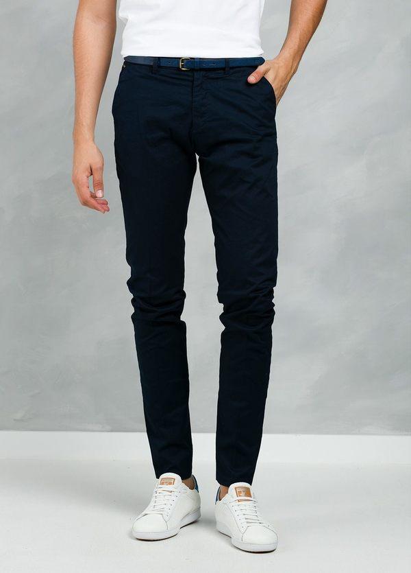 Pantalón chino color azul marino, Algodón. - Ítem1