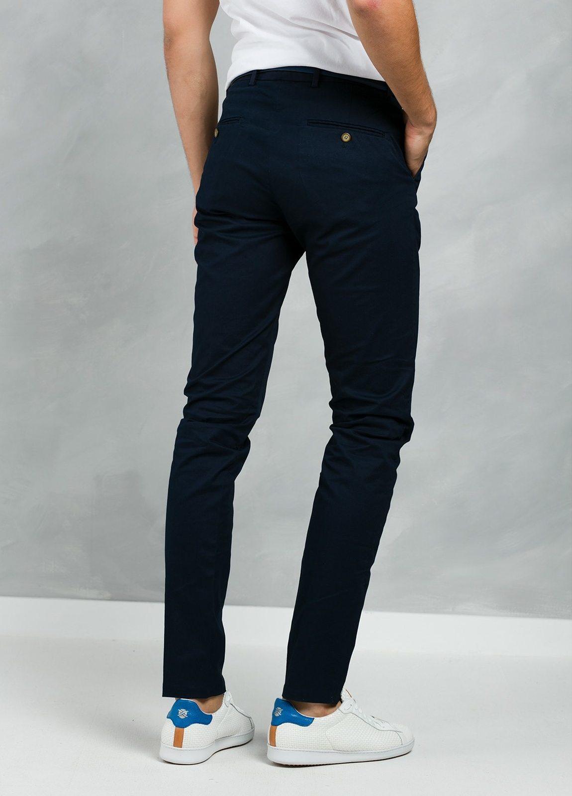 Pantalón chino color azul marino, Algodón. - Ítem2