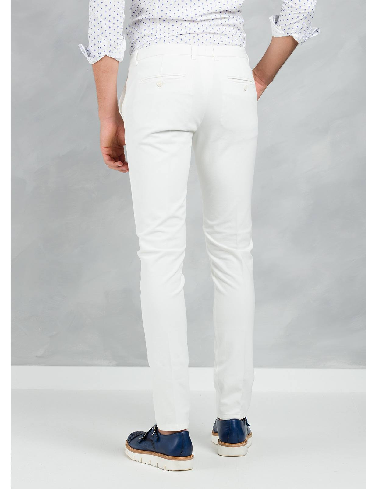 Pantalón chino SLIM FIT color crudo, algodón piquet. - Ítem2