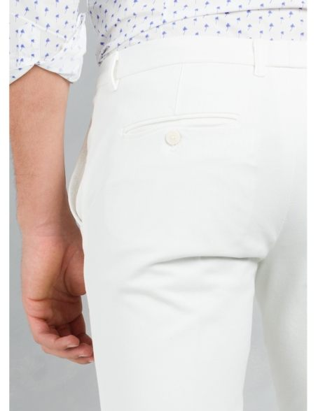 Pantalón chino SLIM FIT color crudo, algodón piquet. - Ítem1