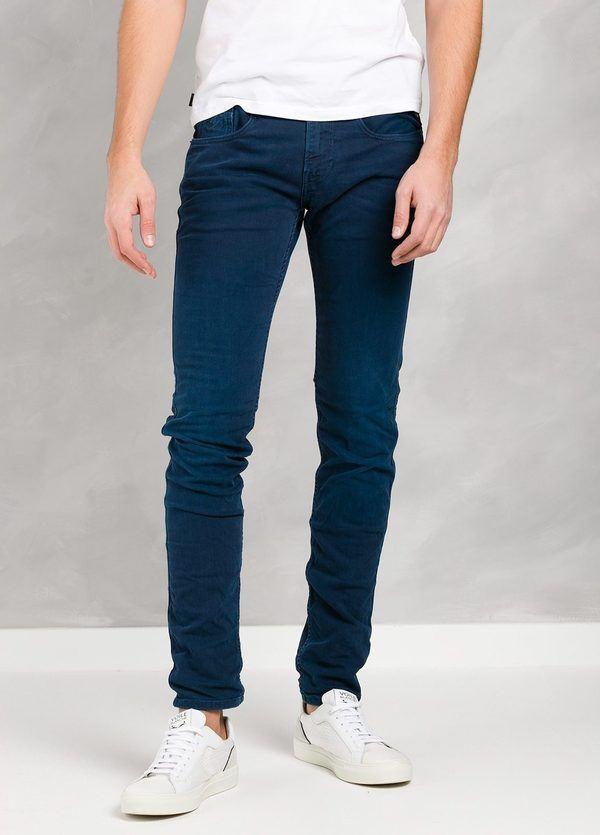 Pantalón tejano 10,5 oz SLIM M914 AMBAS color azul oscuro lavado.