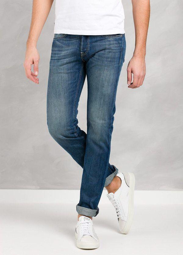 Pantalón tejano 10,5 oz SLIM FIT MA972 GROVER color azul lavado medio