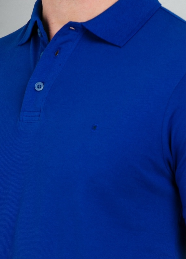Washed Cotton-Pique Polo Shirt color azul, 100% Algodón. - Ítem1