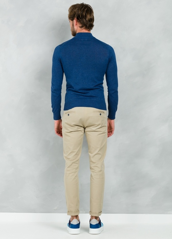 Chaqueta Casual Wear, SLIM FIT con cremallera color azul, 100% algodón - Ítem1