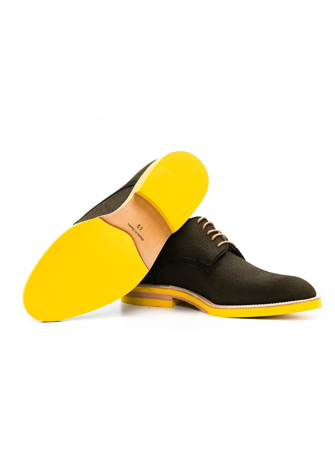 Calzado Sport Wear color kaki, 100% Serraje. - Ítem2