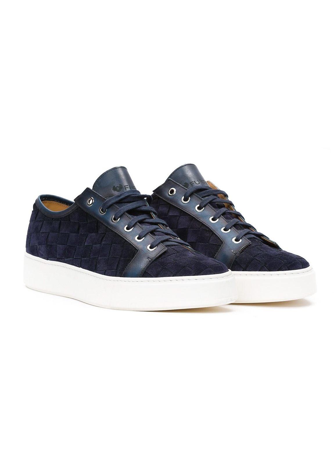 Zapato Sport wear color azul marino,100% Serraje. - Ítem3