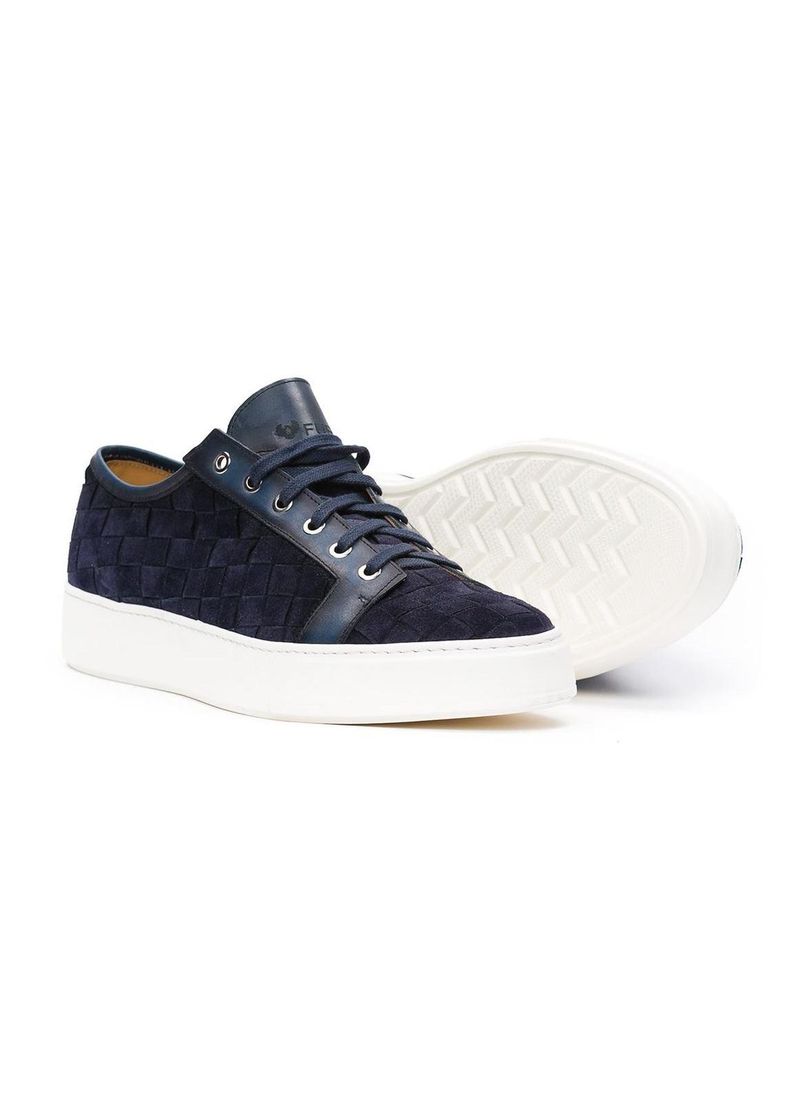 Zapato Sport wear color azul marino,100% Serraje. - Ítem2