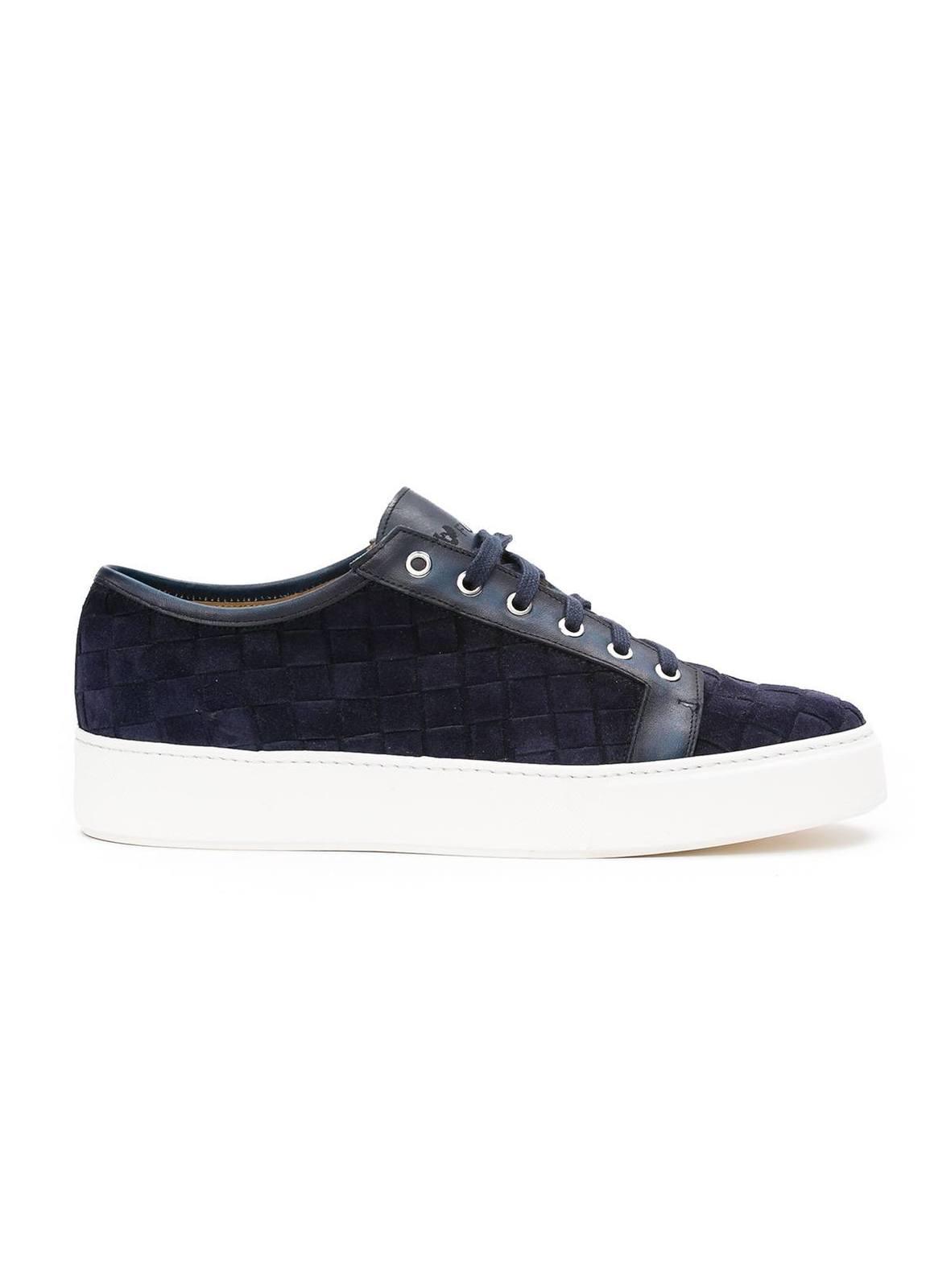 Zapato Sport wear color azul marino,100% Serraje.